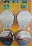 12 Volt Navigation Lights LED Horizontal Mount White & Stainless Covers Supplied