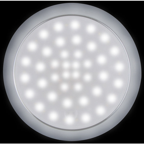 LED Round Interior Exterior White Light Touch On-Off 12/24 Volt 42 LED's IP 66