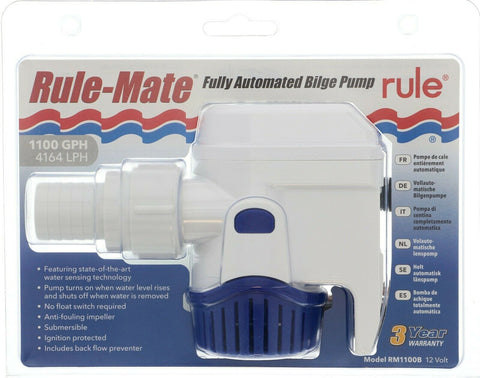 Rule Bilge Pump For Boats 1100gph Fully Automatic Rule Mate
