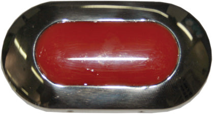 12 Volt LED Red Courtesy Light Flush Mounting 4 LED'S Exterior Or Interior Use