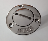 Deck Filler & Key Boat 38mm 316 Marine Grade Stainless Steel Fuel Flush Mount