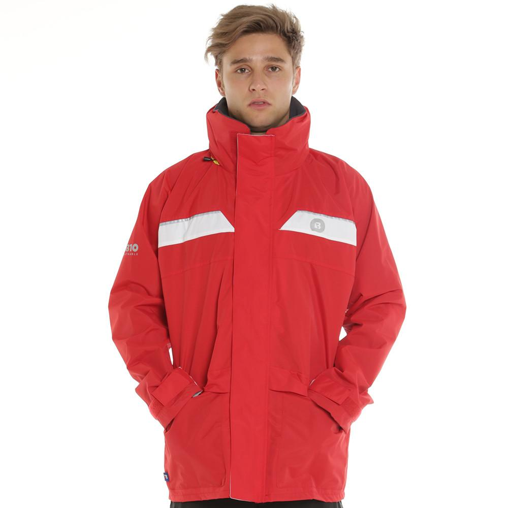 Wet Weather Jacket 100% Waterproof Sailing/Yachting/Fishing/Motorcycle Safety RED SIZE SMALL
