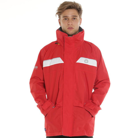 Wet Weather Jacket 100% Waterproof Sailing/Yachting/Fishing/Motorcycle Safety RED SIZE LARGE