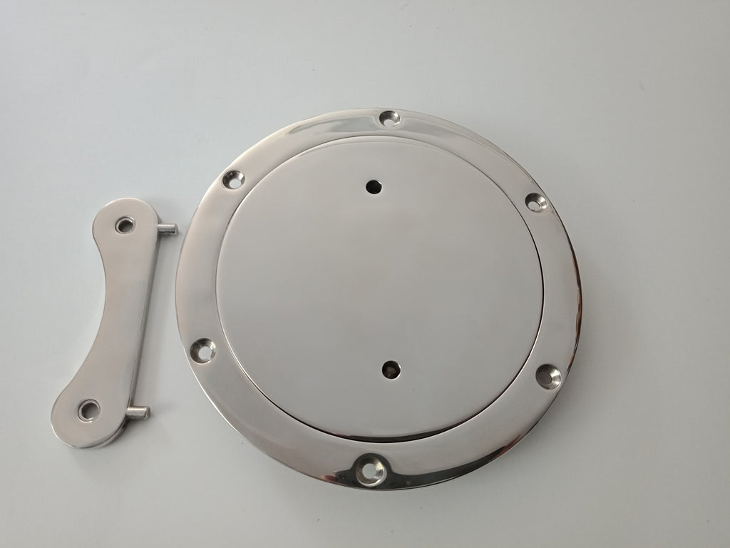 Inspection Port / Deck Plate 170 mm OD 316 Stainless Steel with key 135mm ID