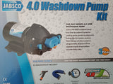 Boat Washdown Pump Kit Jabsco 4.0 Pump Strainer Hose Gun & Fittings 60PSI Jet