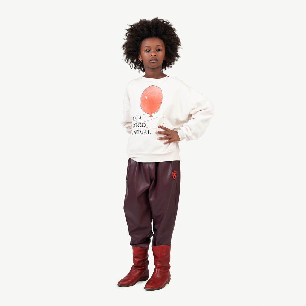 BEAR KIDS SWEATSHIRT WHITE BALLOON