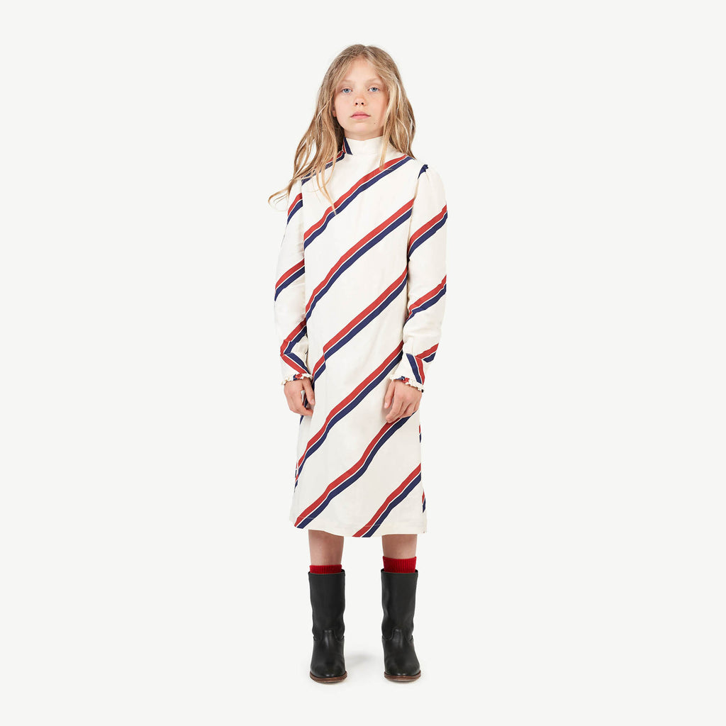 STRIPES TRITON KIDS DRESS RAW WHITE STRIPES