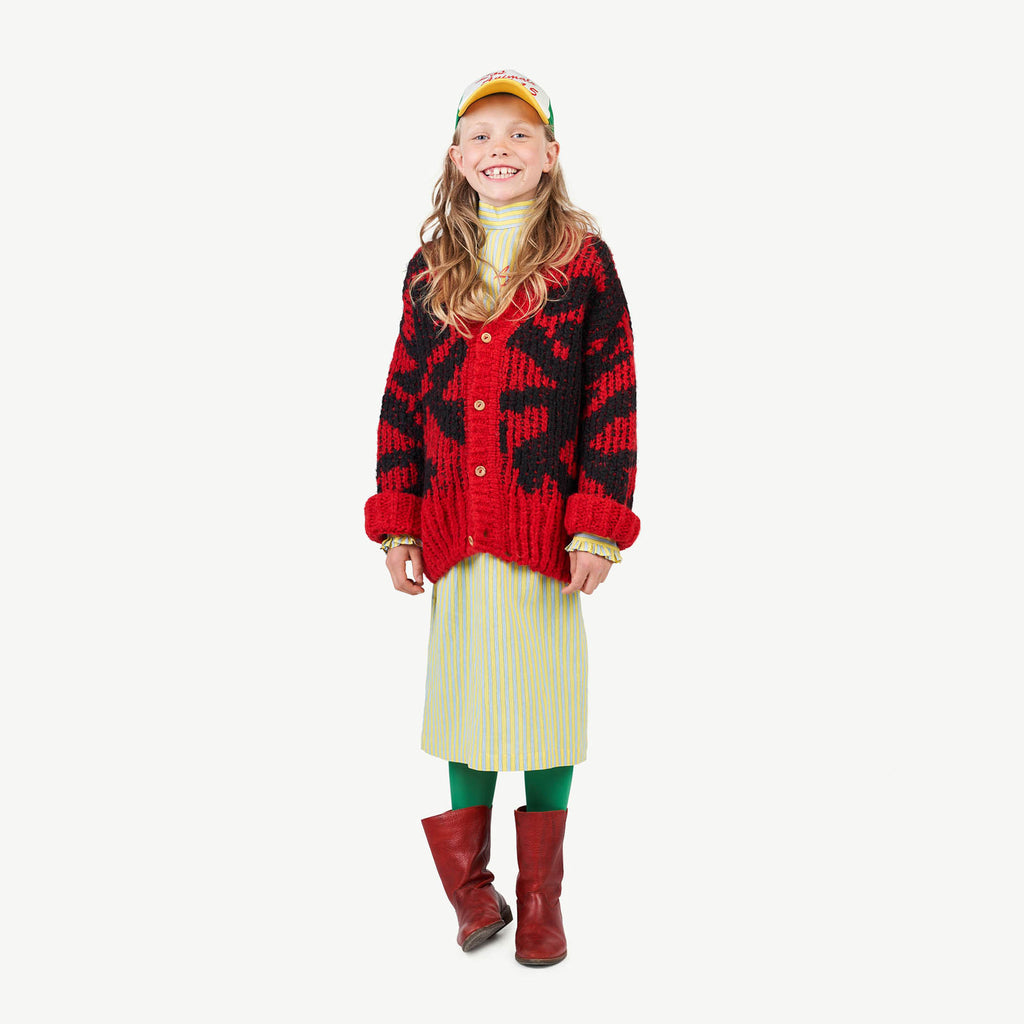 ARTY RACOON KIDS CARDIGAN RED