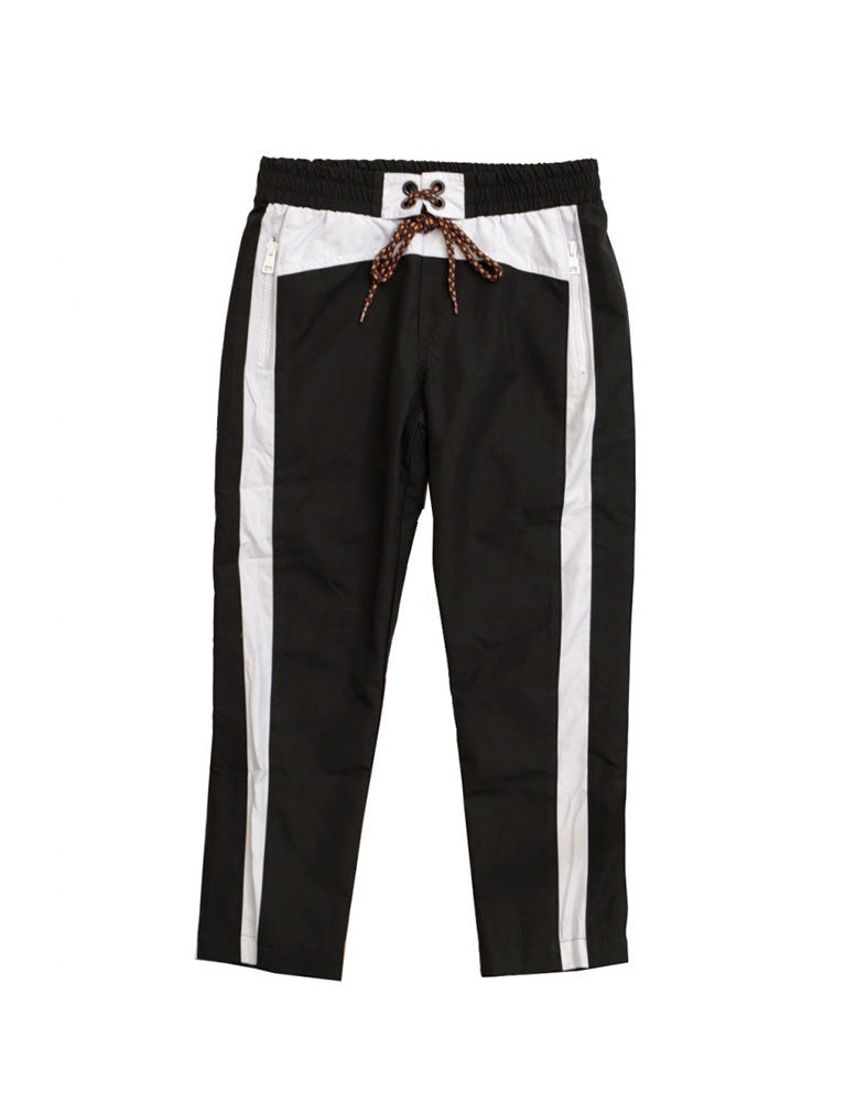 msgm polyester trousers boy in black