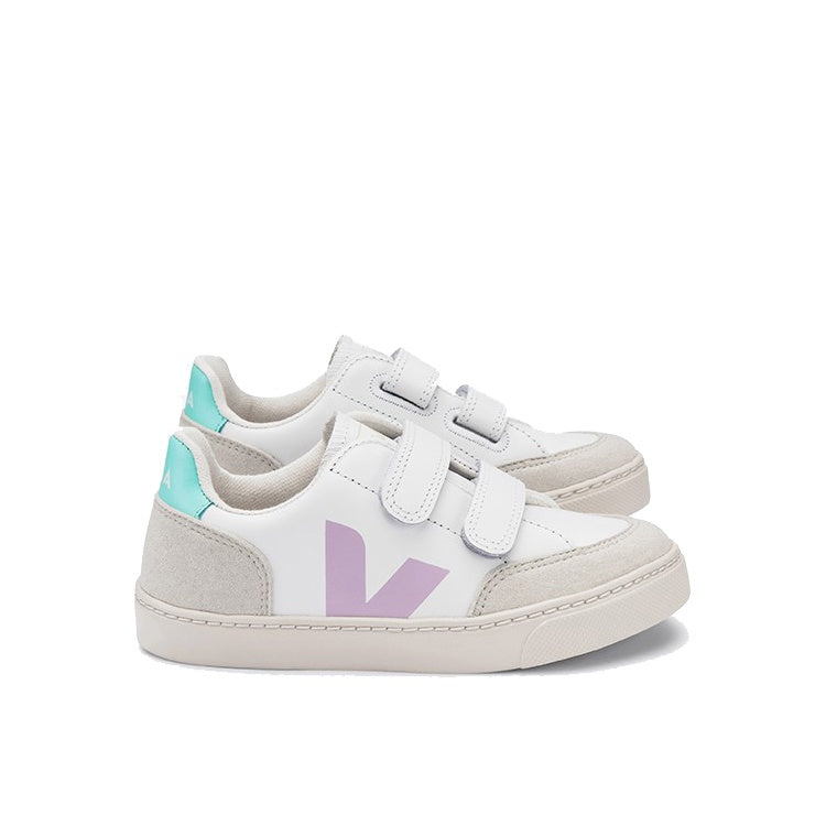 SMALL V-12 VELCRO LEATHER EXTRA WHITE_PARME_TURQUOISE