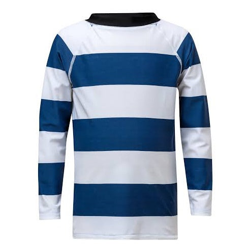Denim/White Rugby Stripe LS Rash Top