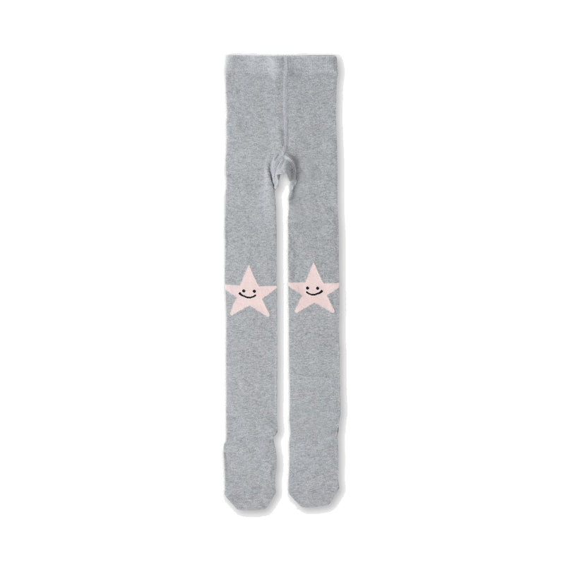 Tights With Star and Smile Intarsia