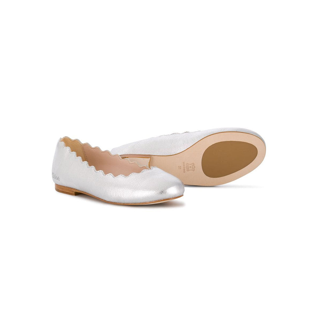 SCALLOPED BALLERINA SHOES