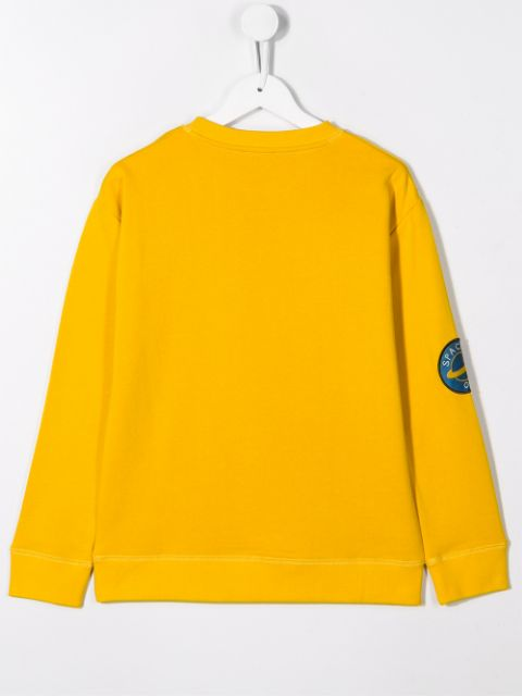 Yellow Sweater With Badges