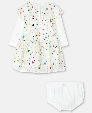 Baby Party Dots Print Tulle Dress