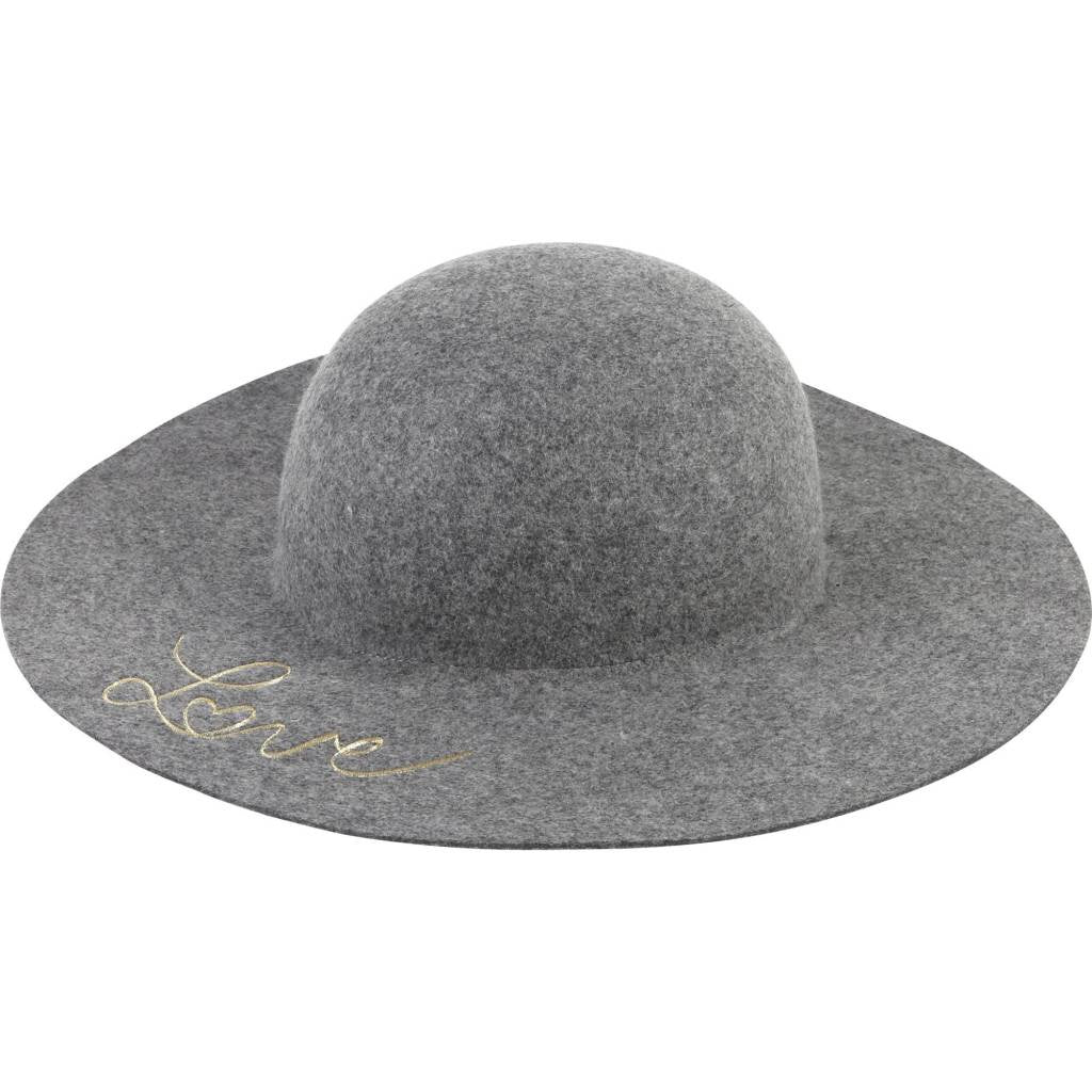 LOVE EMBROIDERED FELT HAT