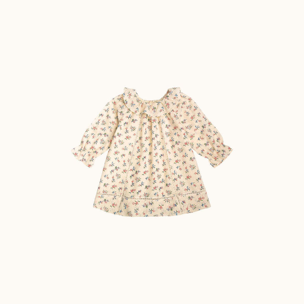 BABIES' MÛRE DRESS NATURAL WHITE