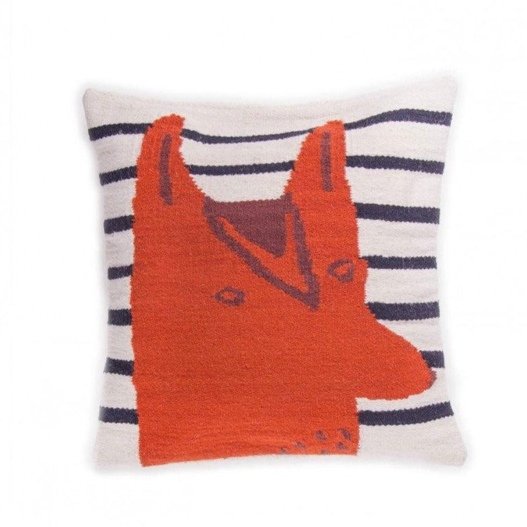 oeuf pillow fox navy 40 x 40 kit