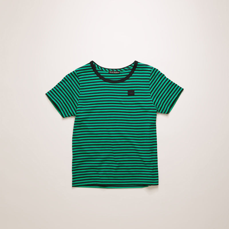 Face-patch Striped T-shirt Emerald Green
