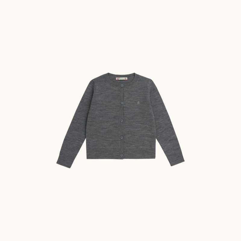 CHILDREN'S CARDIGAN DARK GRAY