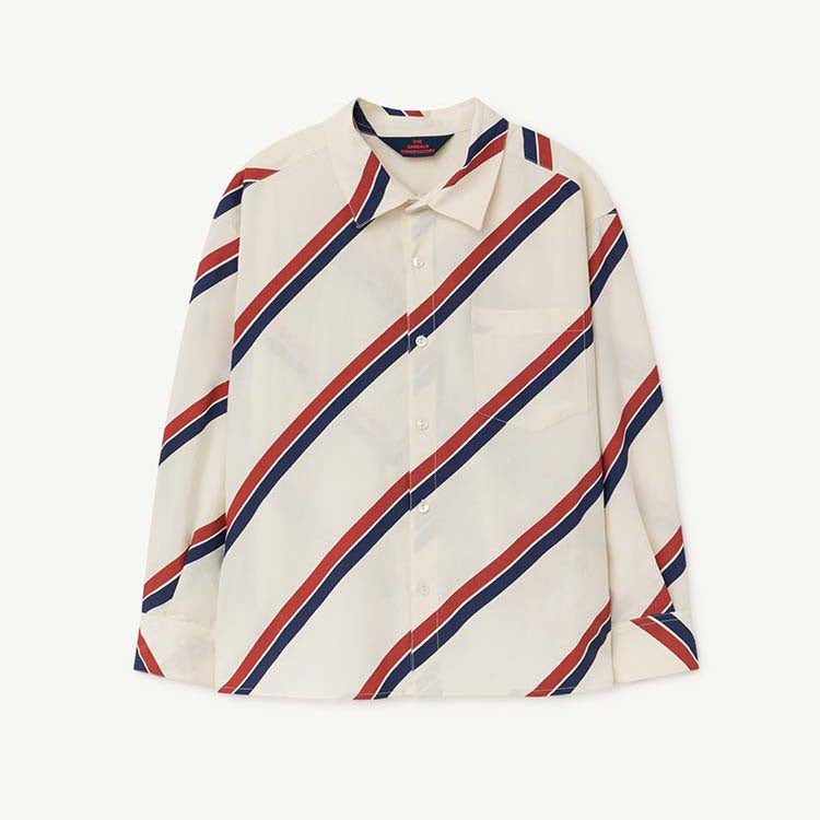 STRIPES WOLF KIDS SHIRT RAW WHITE STRIPES