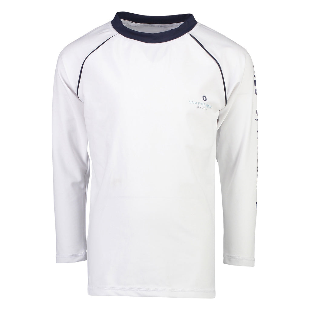 Compass White LS Rash Top
