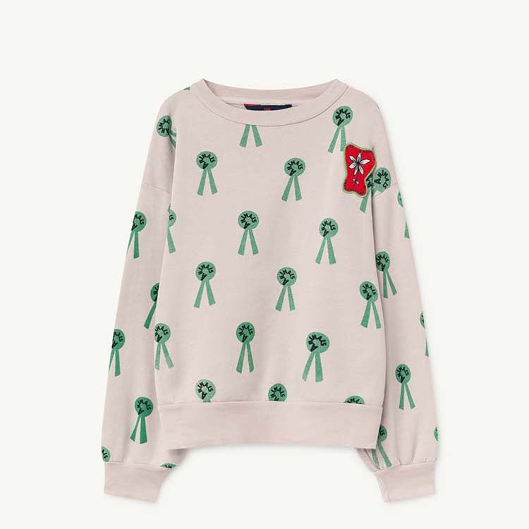 BEAR KIDS SWEATSHIRT MAUVE ANIMALS