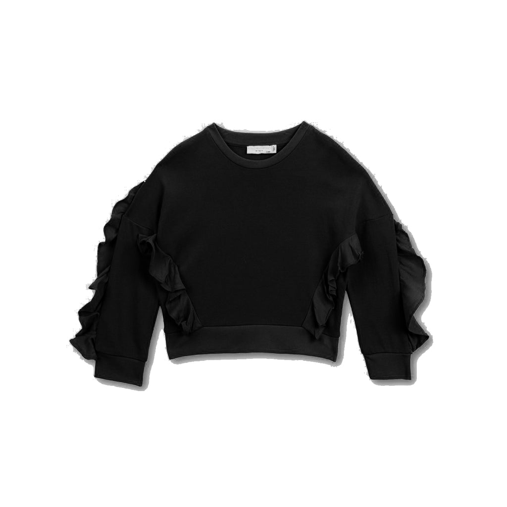 Frills Crop Sweater
