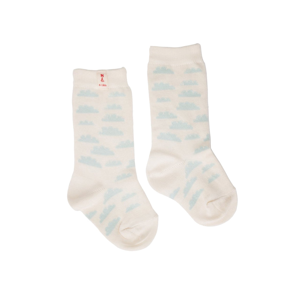 ORGANIC COTTON SOCKS CLOUDS