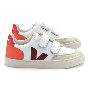 SMALL V-12 VELCRO LEATHER EXTRA-WHITE