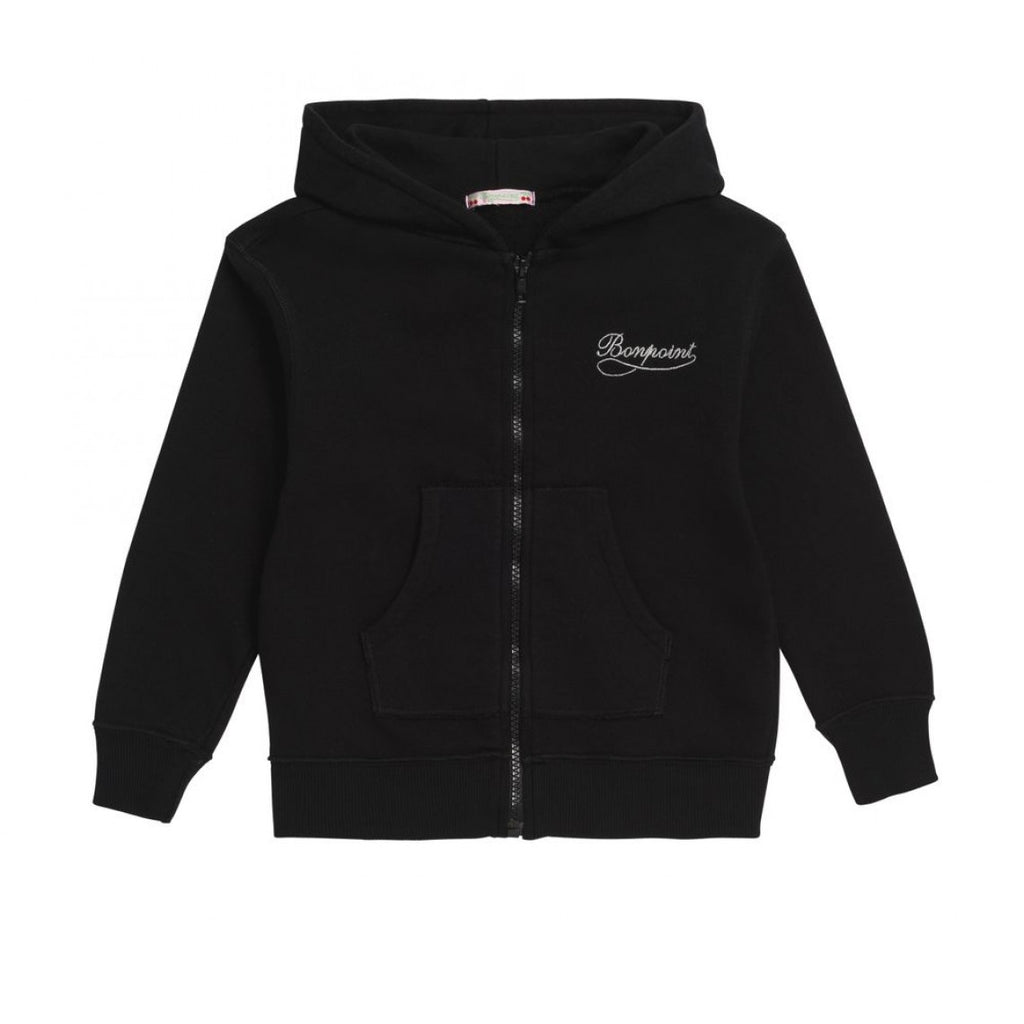 SWEAT CAPUCHE ZIPPE BLACK