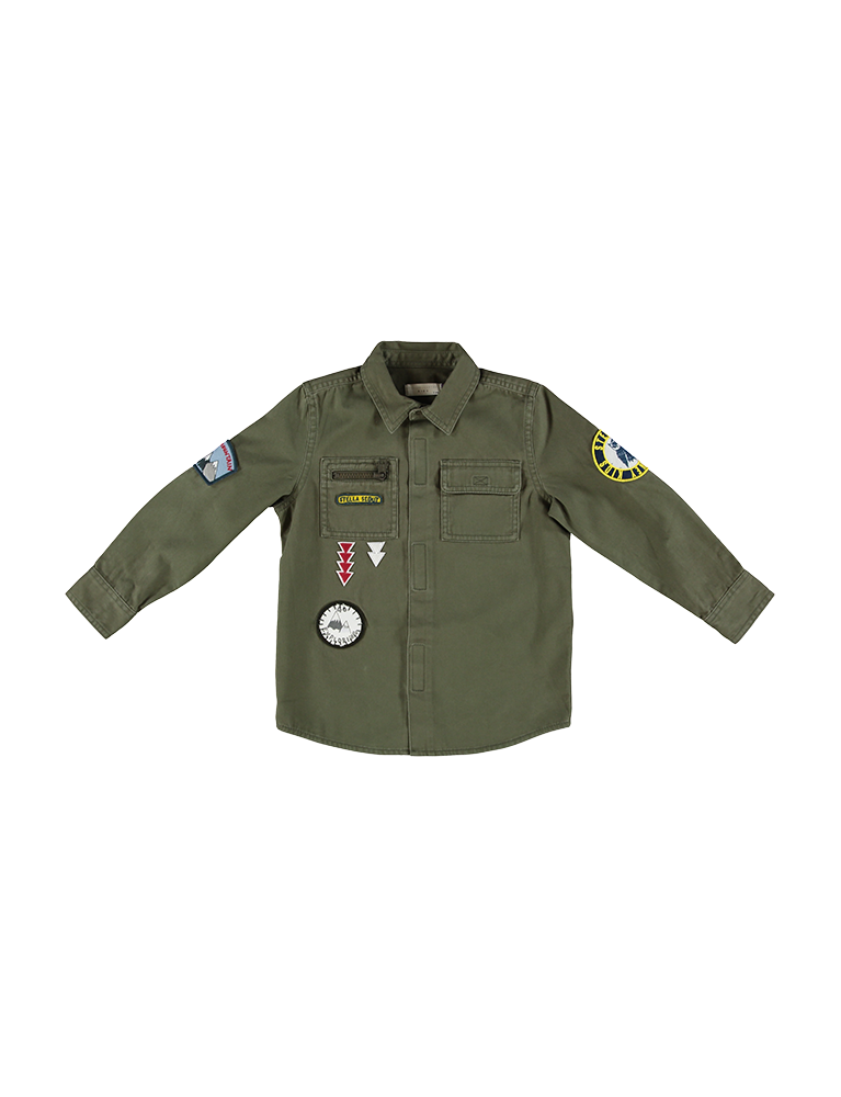 ENZO SHIRT W/BADGES