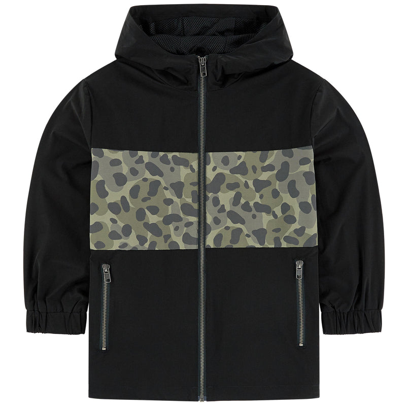 CAMO INSERT HOODED JACKET