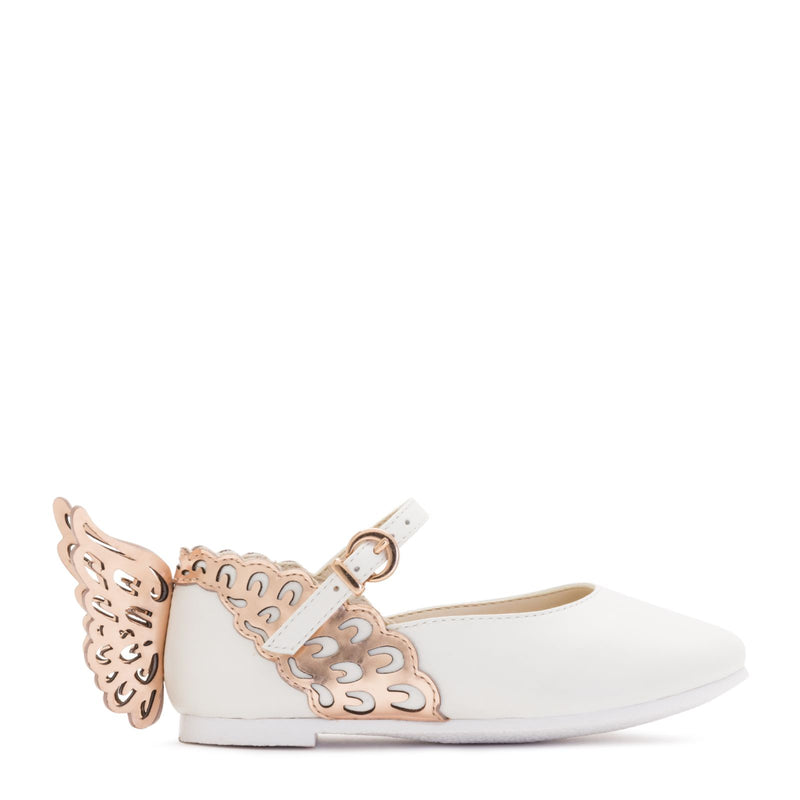 Evangeline White & Rose Gold