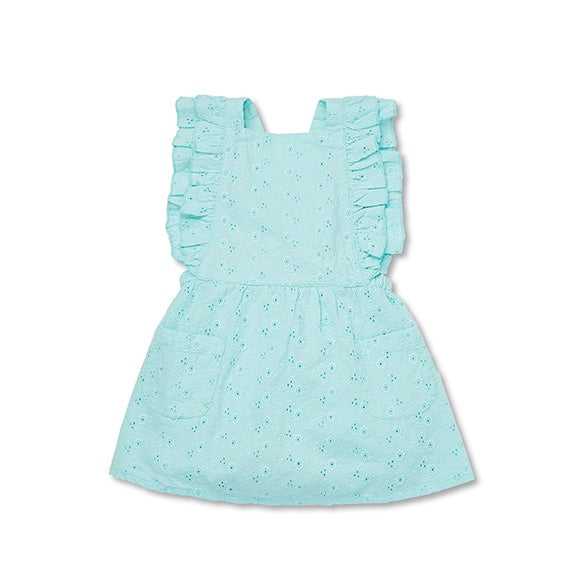 HELENA PATCH DRESS Aqua