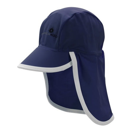 UV50 FLAP HAT - BLUE/WHITE- ON
