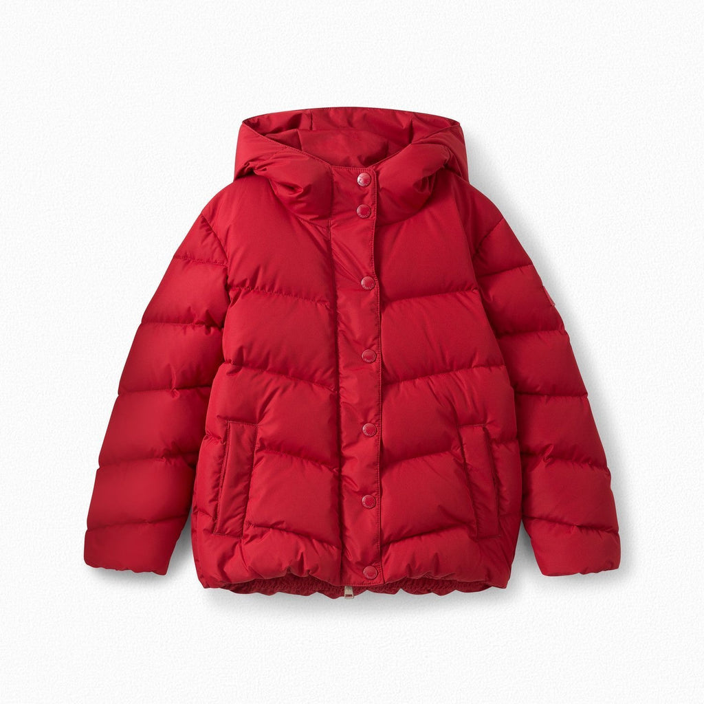 Girls' down jacket red