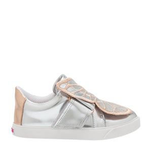 BUTTERFLY LOW TOP JUNIOR Silver & Rose Gold