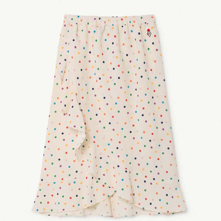DOTS MANATEE KIDS SKIRT RAW WHITE DOTS