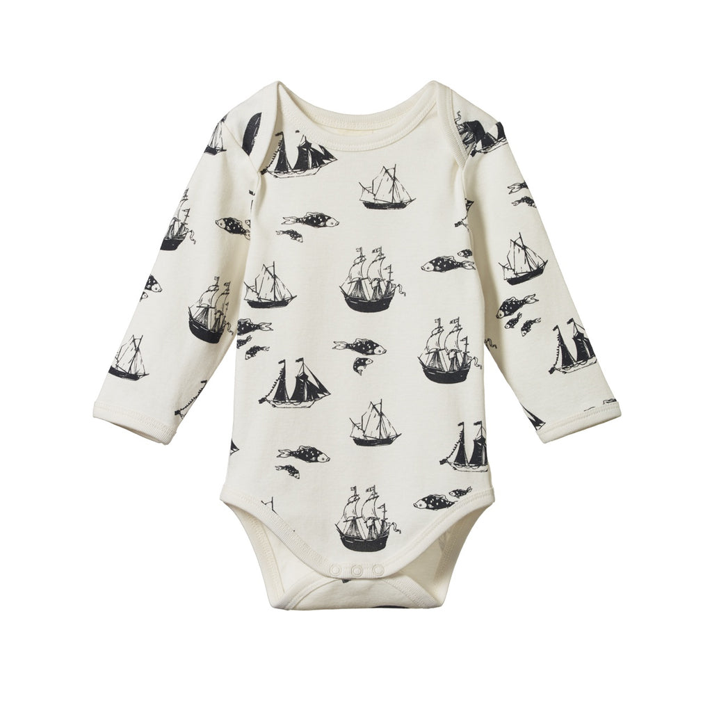 LONG SLEEVE BODYSUIT VOYAGE PRINT