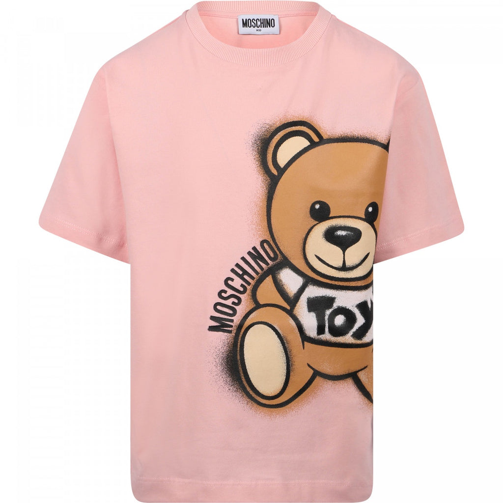 MOSCHINO Teddy Toy T-Shirt in Pink