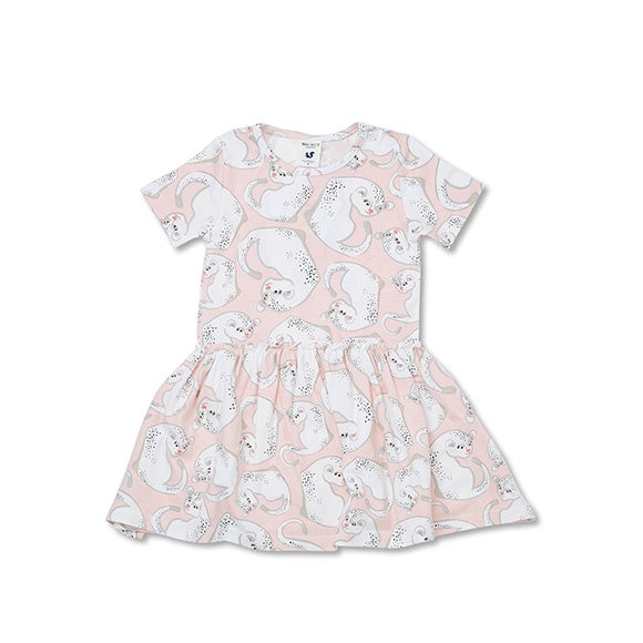 HARLOW DRESS Snow Leopard