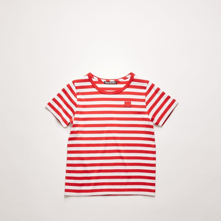 Mini striped t-shirt cherry red