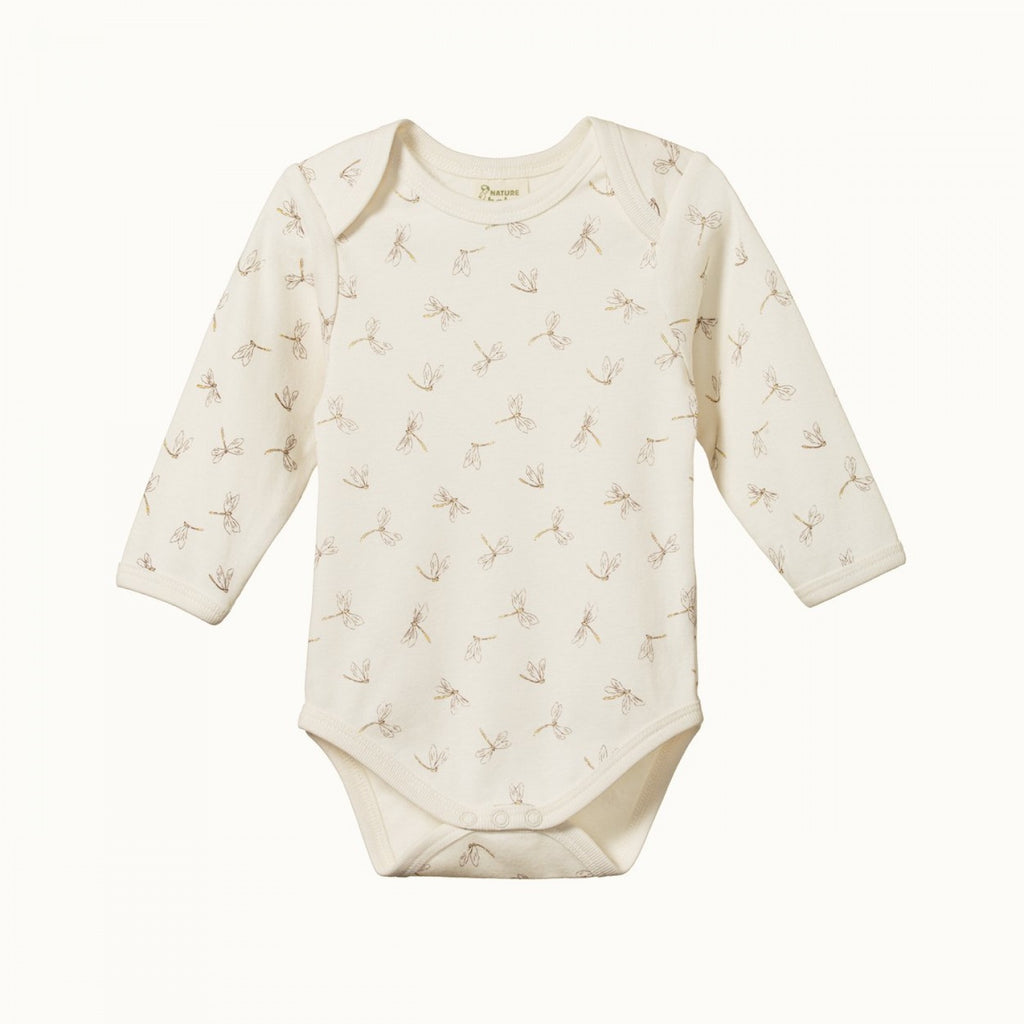Cotton Long Sleeve Bodysuit Dragonfly
