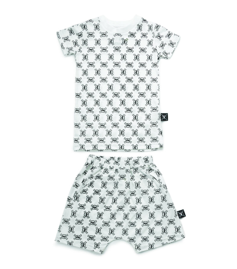 MINI SKULL LOUNGEWEAR WHITE