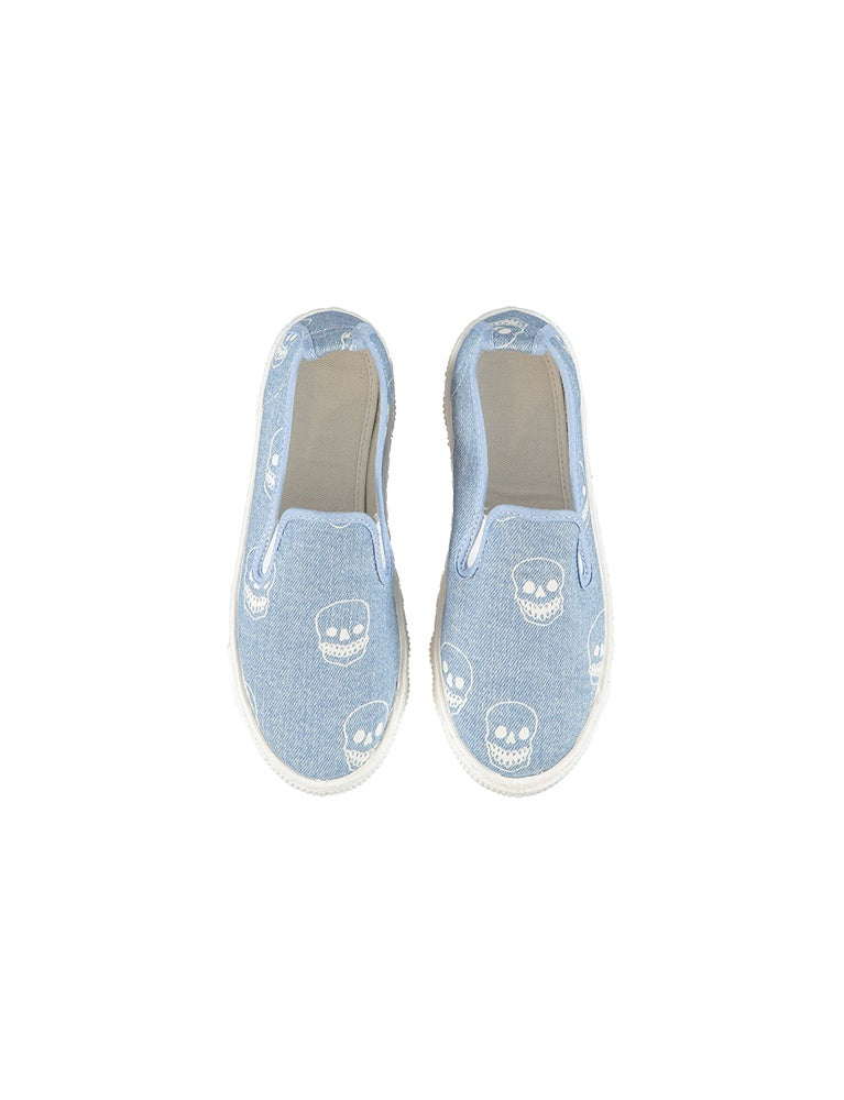 LEO SHOES W/DENIM SKULLS PR