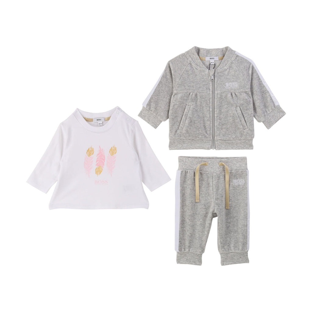 T-SHIRT+TROUSERS+CARDIGAN SET