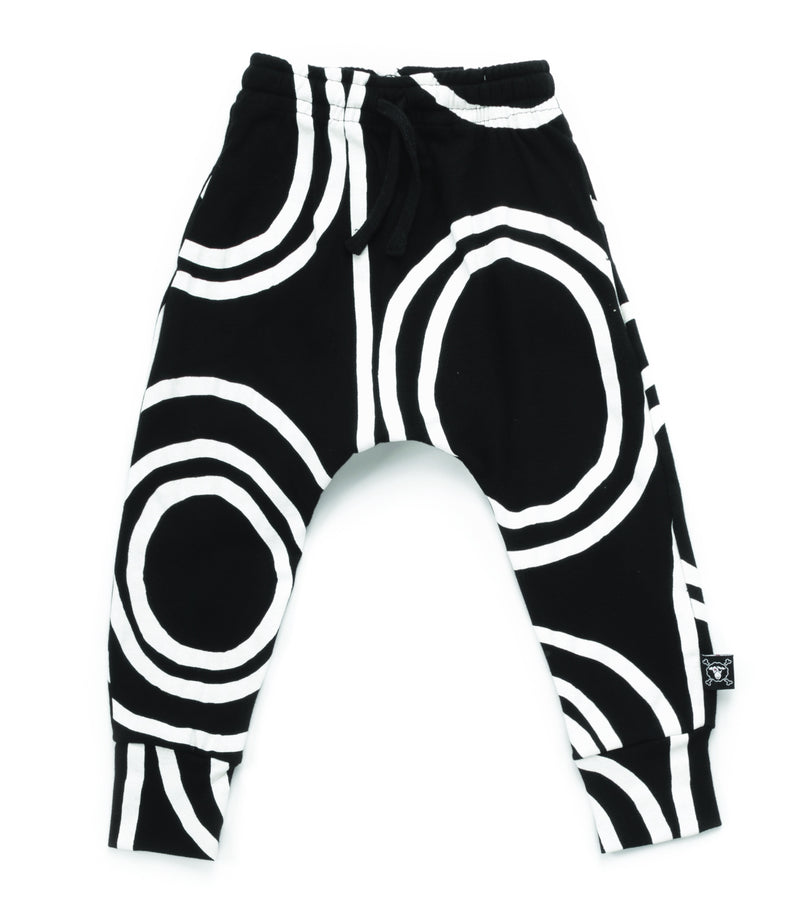 CIRCLE BAGGY PANTS BLACK