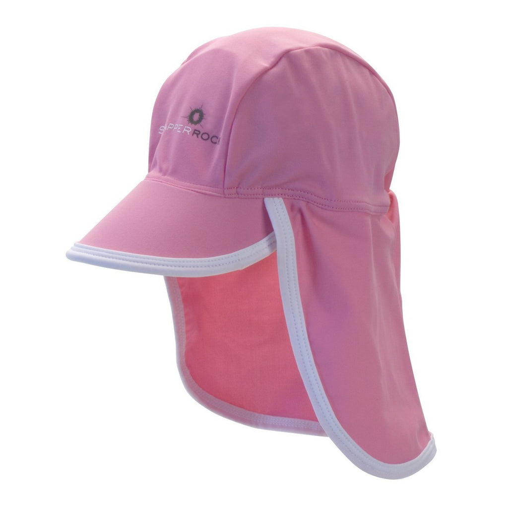 UV50 FLAP HAT - PINK/WHITE- ON