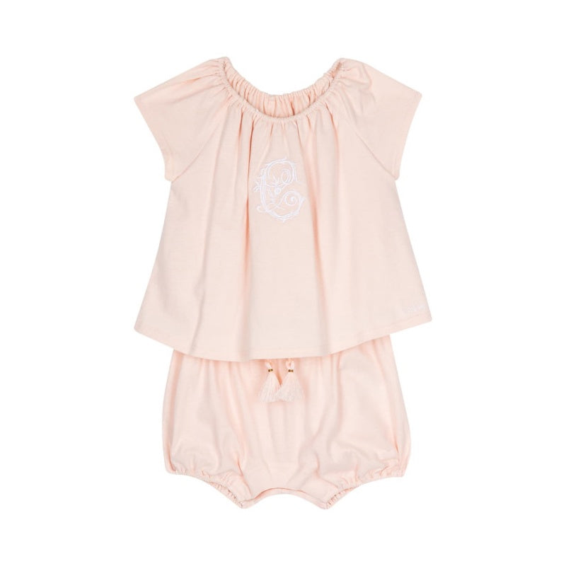 ROSE PETALE COTTON JUMPSUIT